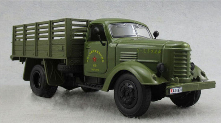 1:32 Car Alloy CA10 China Jiefang Military Diecast Truck Model With light sound Army Green Truck Military Model Kids Toys Gift B(China (Mainland))