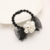2015 hot sell ribbon bow elastic band girls hair accessories with pearl fashion trendy women headwear 3119