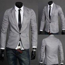 2015 British Fashion suit silm coats Mens casual Stunning slim fit Jacket Blazer Short Coat one Button suit X99