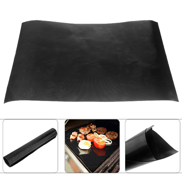 Teflon BBQ Grill Mat for Barbecue Grill and Microwave Oven Use(China (Mainland))