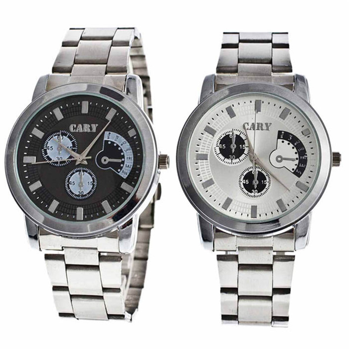 Novel design 2015 Luxury Stainless Steel Big Dial Life Waterproof Lovers Quartz Wrist Watch<br><br>Aliexpress