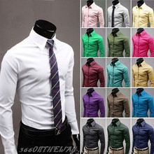 HoT Sale 2015 Jeansian Men's Casual Business Cotton Solid  Slim Fit Dress man Shirts Tops Western Casual 17 Colors XS~XL 8504(China (Mainland))