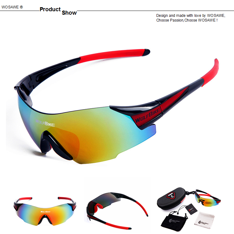 WOLFBIKE UV400 Cycling Sun Glasses Outdoor Sports Bicycle Glasses