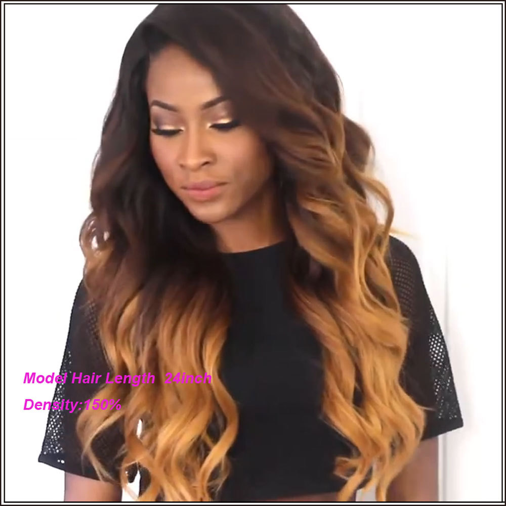 Ombre Full Lace Front Wigs 50