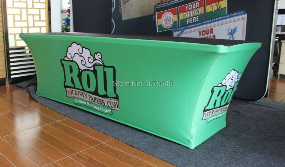 6ft & 8ft table skirt for trade show(China (Mainland))