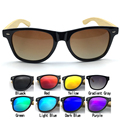 Free Shipping 9Colors Classical Eyewear PC Frame with Bamboo Temple Sunglasses and Polarized REVO Lens B3001