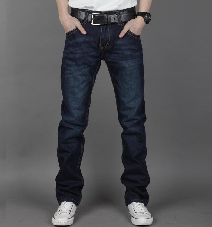 2014 New winter dress Menu0026#39;s Jeans Casual Straight Pants ...