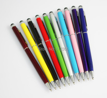 Metal 2 In 1 Capacitive Screen Stylus Pen Pens Touch Pen For IPAD IPHONE Tablet PC Cellphone 30pcs/lot Free shipping