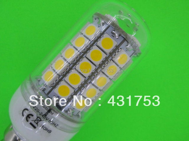 220V  E27 Chip 69 LED Cool White Light Bulb Lamp  12W ( High Brightness ) lights for home 5050 SMD