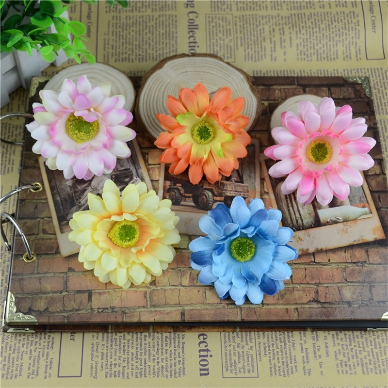 10pcs Real Touch 7cm Artificial Silk African Daisy Flowers Heads For Scrapbooking Flower Kiss Ball For Wedding Decorative(China (Mainland))