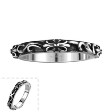 US#8-11 Lureme Gothic Cool Simple Little Finger Ring for Man Stainless Steel Jewelry Ring Free Shipping