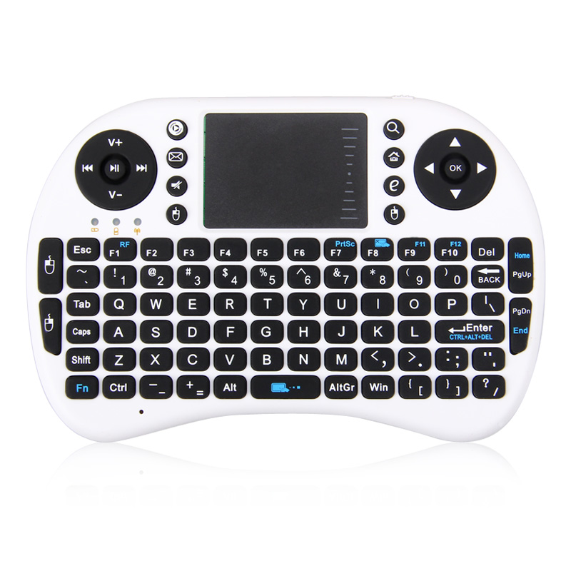 Multipurpose Portable 2.4Ghz Wireless Keyboard With Touchpad Gaming Keyboard Google/Smart TV X-Box Media Control(China (Mainland))
