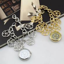 Wh005 caliente venta Fashionab Bracelet Flower sexy del análogo de cuarzo de la muchacha de acero inoxidable reloj de pulsera catenaria de la mano relojes para mujer