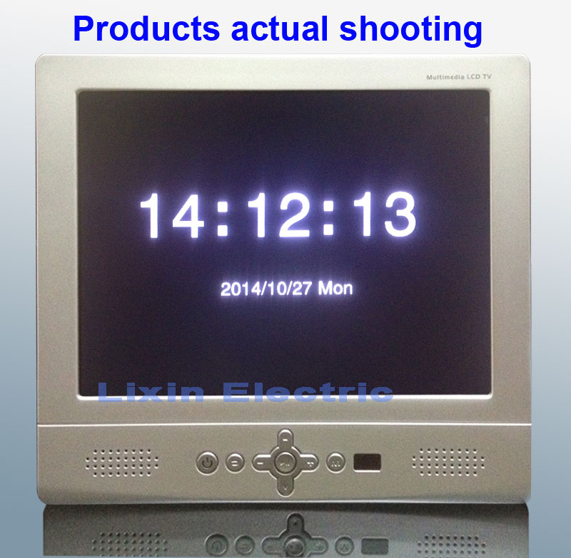 """Portable TV 8 """"Color Lcd Television Suitable For Car 12v Power Supply (TV + av fm for usb) input Electronic albums and clocks"""