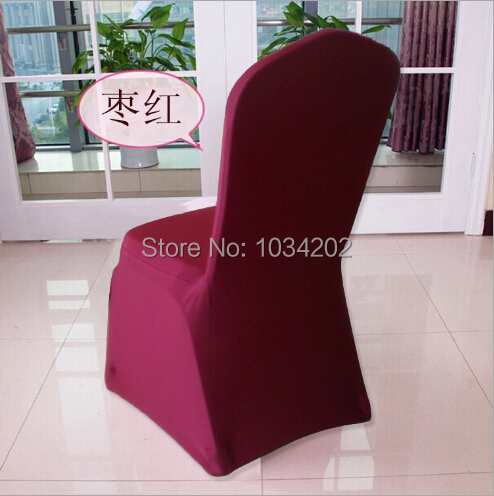 Universal White Polyester Spandex Wedding Chair Covers For Weddings Banquet Folding Hotel