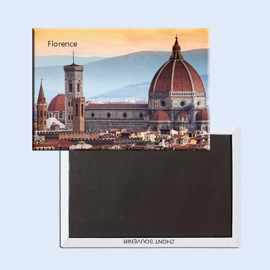 Souvenir Magnets FREE Shipping,Italy Florence CIty Sence Tourist Metal Fridge Magnet SFM5200(China (Mainland))