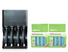 8pcs KENTLI 1.5v 2800mWh Li-polymer li-ion polymer lithium rechargeable AA battery batterie + 4 channels bays Charger chargeur