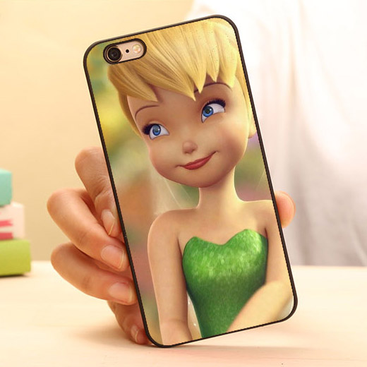 Adorable Cute Tinkerbell Peter Pan Fairy Mobile Phone Case Accessories For iPhone 6 6 plus 5c 5s 5 4 4s Case Cover Original Gift(China (Mainland))