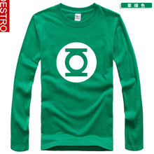 The Justice League Green lantern Symbol Pattern Superhero 2013 print long-sleeve T-shirt dbz02 chromophous