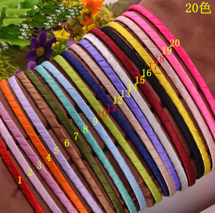 MHC008 Free shipping girl hairbands plastic Hair Clips Lined Alligator Hair Clips hairgrips DIY children headwear hair Accessory()