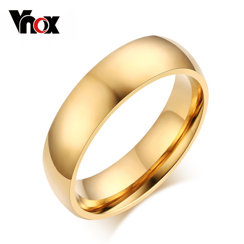 10pcs/lots Wholesale 4.0mm stainless steel rings 18k gold plated women wedding jewelry provide mix size <br><br>Aliexpress