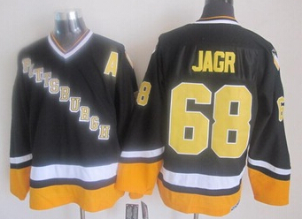 Mens Ice Hockey Jerseys 2015 New Pittsburgh Penguins #68 Jaromir Jagr Black CCM Vintage Jersey,Accept Mixed Orders 630(China (Mainland))