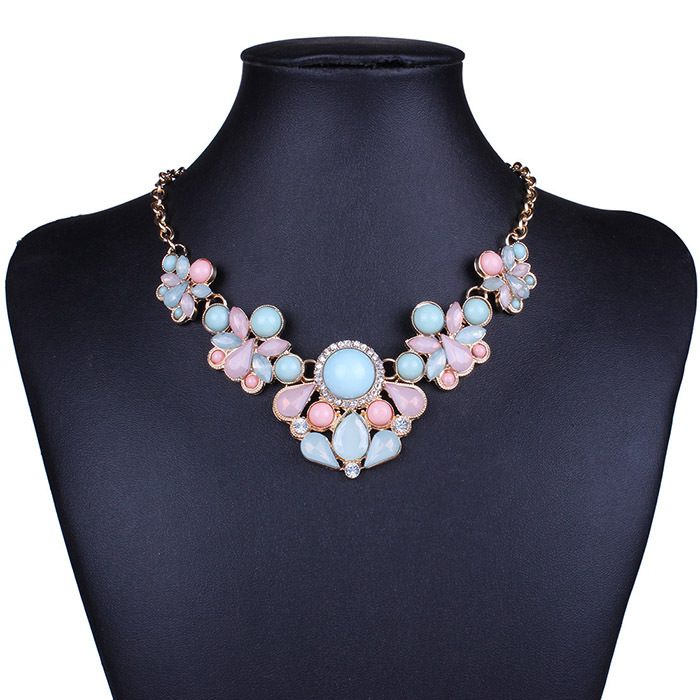 New 2015 Hot Pendant Necklace Women Jewelry Trends Link Chain Statement Necklaces Water Drop Colar Pendants For Gift Party(China (Mainland))