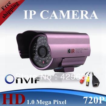 Free shipping 1.0 mega pixels H.264 outdoor ip camera 720P ip network camera 48 IR LED Waterproof