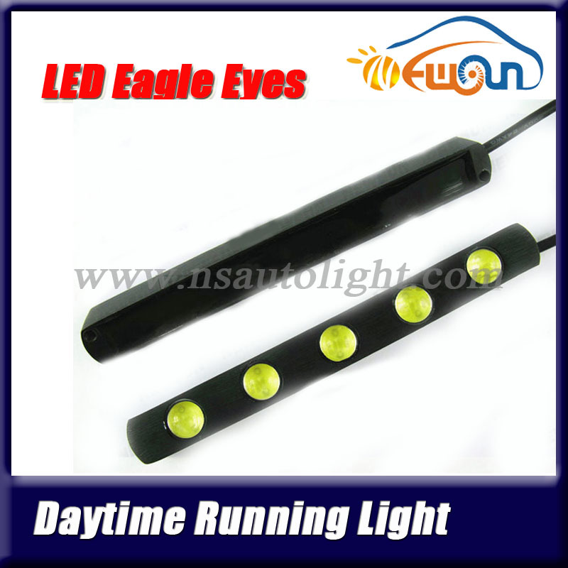 2pcs 12V DC 10W Led car day time running light aluminum board led eagle eyes lighting for cars truck off road vehicles day light(China (Mainland))