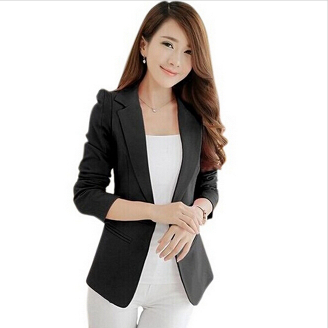S XXL Suit Blazer Women Feminino slim outerwear female ...