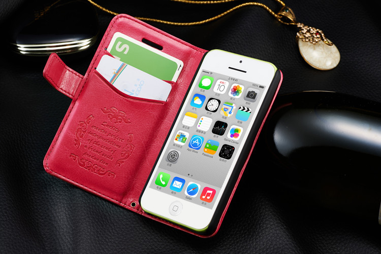 Fashion 100% Genuine Leather Cover Case Apple iPhone 5C Original Brand Exquisite Card Slots Portable - Vision Electronic Technology Co., Ltd. of Shenzhen City store