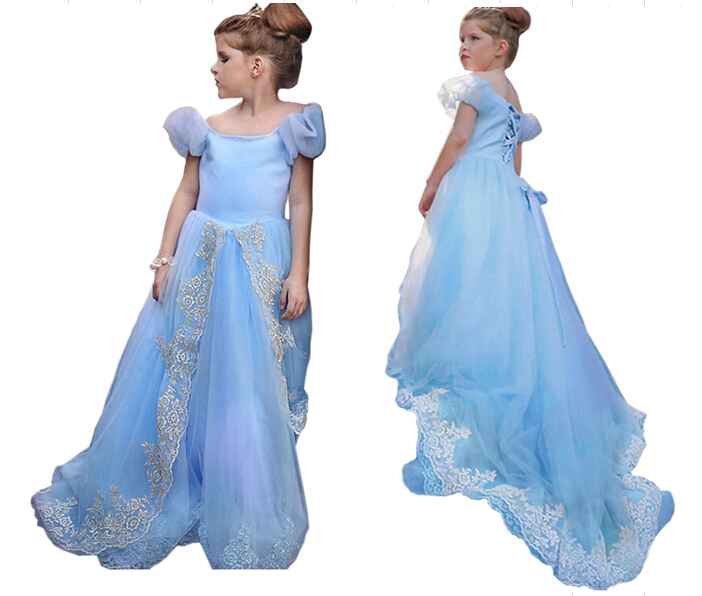 Hot,available,Cinderella children clothes girls Party Dress For Girl Princess Dresses Upscale party dress 3-10yrs free shipping(China (Mainland))
