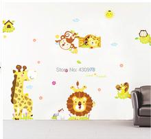 140x100cm (55 inchx39 inch) ABC1033 Monkey Wall Stickers Lion Kids Room Home Decoration DIY Adesivo de Parede Bedroom Bathroom Mural - Yiwu store
