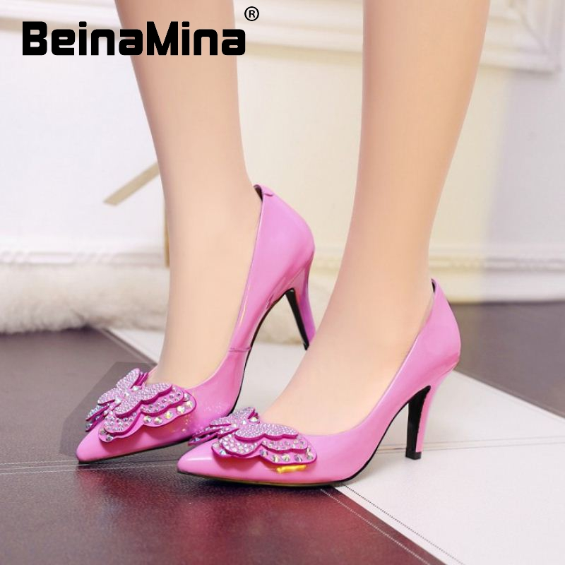 size 34-39 women real genuine leather thin high heel shoes pointed toe sexy heels brand wedding pumps lady heeled shoes R08726<br><br>Aliexpress