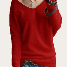 New 2015 Women Soft Cashmere Sweater Winter Fashion Knitted Pullover Autumn Warm Batwing Sleeve Knitwear Jumper 10Colors S-XXXL(China (Mainland))