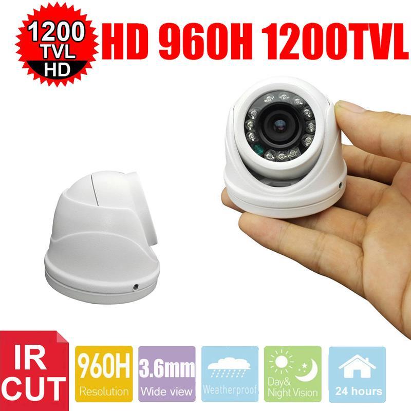 Vanxse CCTV 1/3 SONY CMOS 960H 1200TVL HD 24LEDs IR-CUT 3.6mm Mini Armour Dome Surveillance Security Camera(China (Mainland))