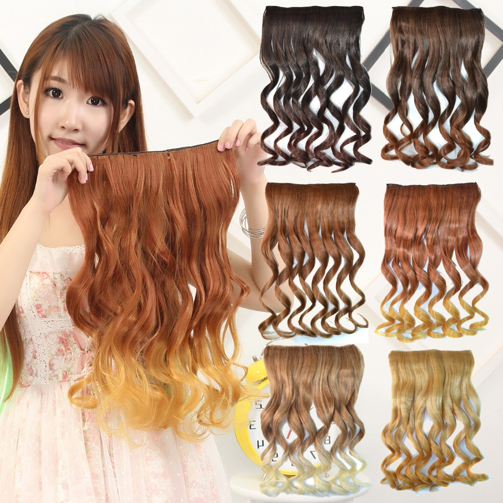 """2016 Promotion Hot Sale Clip in 22"""" 130g 5 Clips In Hair Extensions Ombre Extension 6 Colors The Lining Of Pad Aliexpress Uk(China (Mainland))"""