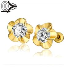 E1009-A Wholesale Nickle Free Antiallergic 18K Real Gold Plated Earrings For Women New Fashion Jewelry(China (Mainland))