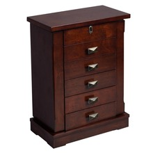 Armoire Jewelry Cabinet Box  Chest Stand  Necklace Wood Storage Cabinet(China (Mainland))