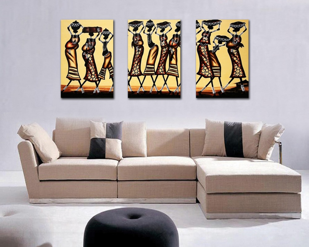 Free Shipping Abstract African Figure Print Painting Wall Art Decor 3