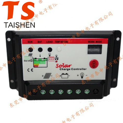 TSMT-10A Double Digital Tube Display 12/24V 10A Solar Controller Free Shipping 12000942(China (Mainland))