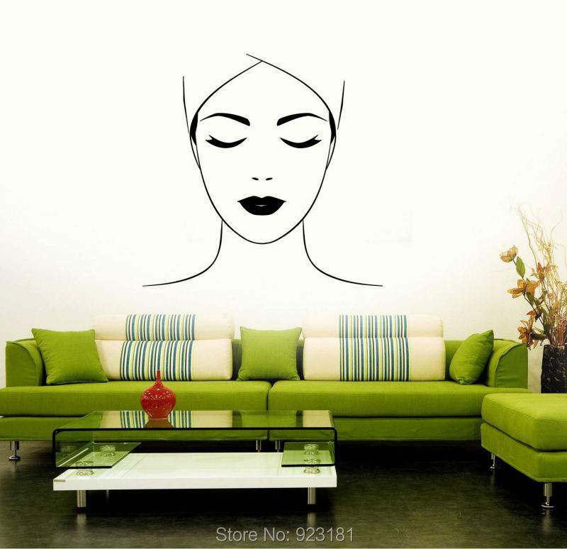 Spa beauty salon massage makeup relax wall art stickers decals home diy decor - Decoration mural salon ...