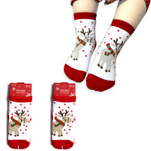 0-5T Cotton Cute Christmas Design Baby Socks Slip-resistant Cartoon New Born Children's Christmas Socks 8Style