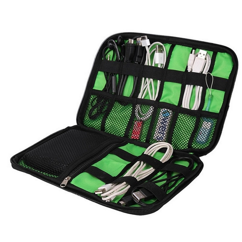 Fashion Organizer System Kit Case Storage Bag Digital Gadget Devices USB Cable Earphone Pen Travel Insert Hight Quality Portable(China (Mainland))