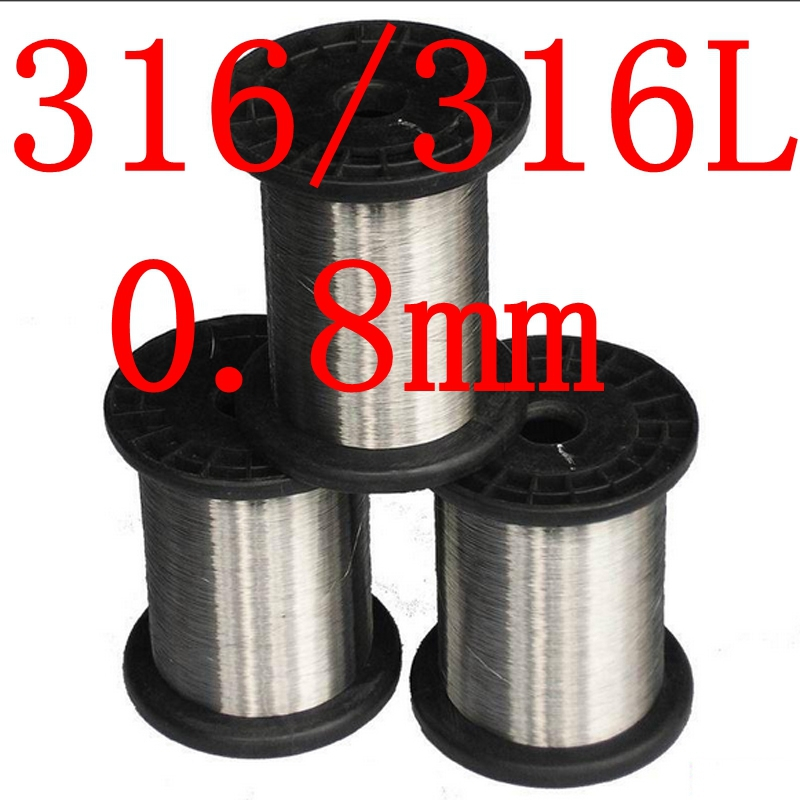 0.8mm,316/316L Soft Stainless Steel Wire,21 gauge around/0.8mm SS Seaworthy Thread(China (Mainland))