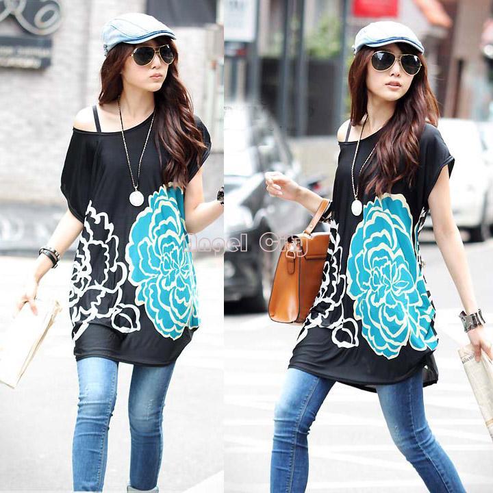 New 2014 Summer One Piece Dress Flower Printing Plus Size Slim Ice Silk Casual Dress SV000488 SV16 18(China (Mainland))