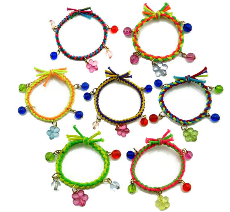 One Piece 5cm 2015 New Rubber Hair Bands Holders Elastics Accessories Flower Ball Tassel Girls' Women Tie Gum Weaves Bracelet(China (Mainland))