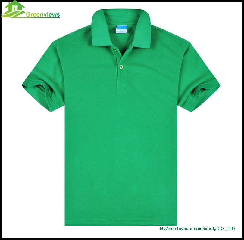2016 new top quality polyester mens short sleeve men polo for Men s polyester polo shirts