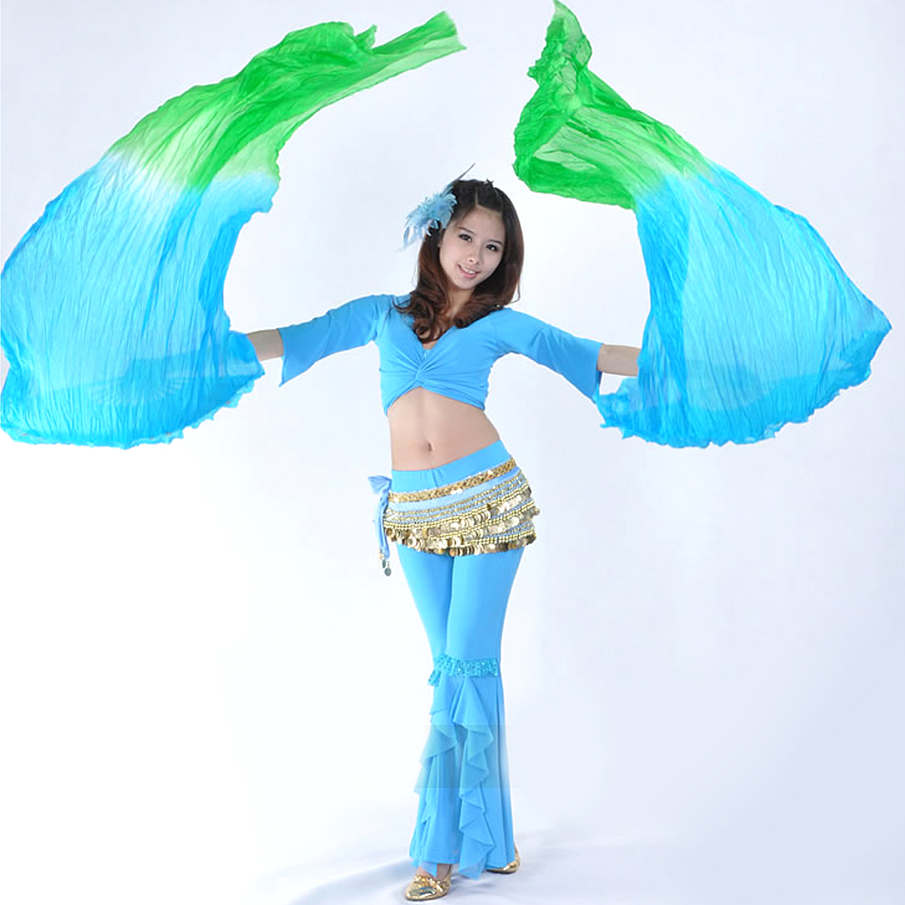 11 colors--------free shipping+Hot selling 1pc right hand new dance fan veil/belly dance fan veil/silk 2016 sale(China (Mainland))