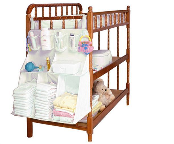 waterproof baby boy girls bed hanging Organizer bag home Storage Bags baby bedding set for Underwear bottle Diapers accessories(China (Mainland))